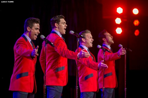 """The Jersey Boys perform at the General Session #3: A Lifetime in Sports and a Look Ahead during the TEAMS Conference & Expo Las Vegas, Nevada Thursday, November 12, 2015."""