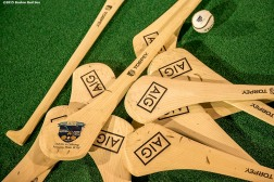 """""""Hurlers are displayed during a hurling clinic at New Balance Field at Boston University in Boston, Massachusetts ahead of the AIG Fenway Hurling Classic and Irish Festival Tuesday, November 17, 2015."""""""