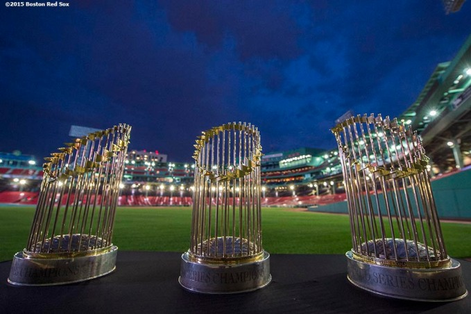 """Merrimack Pharmaceuticals hosts a company event at Fenway Park in Boston, Massachusetts Thursday, October 22, 2015."""