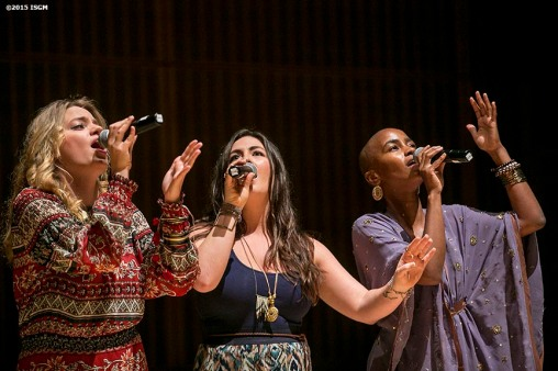 """""""Singer songwriter Shea Rose performs during a farewell celebration for Anne Hawley at the Isabella Stewart Gardner Museum in Boston, Massachusetts Tuesday, December 15, 2015."""""""