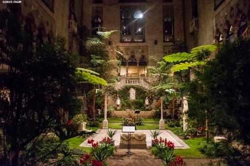 """The courtyard is shown during a farewell celebration for Anne Hawley at the Isabella Stewart Gardner Museum in Boston, Massachusetts Tuesday, December 15, 2015."""