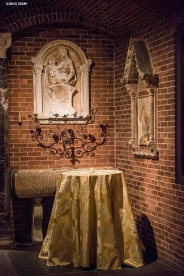 """Decor is shown during a farewell celebration for Anne Hawley at the Isabella Stewart Gardner Museum in Boston, Massachusetts Tuesday, December 15, 2015."""