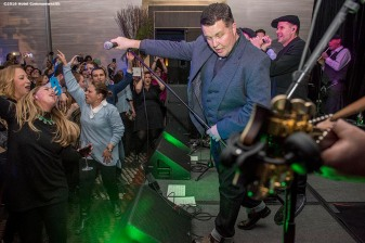 """The Dropkick Murphys perform during the Hotel Commonwealth Sparkle & Glow grand opening party at Hotel Commonwealth in Boston, Massachusetts Thursday, January 21, 2016."""