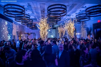 """Guests attend the Hotel Commonwealth Sparkle & Glow grand opening party at Hotel Commonwealth in Boston, Massachusetts Thursday, January 21, 2016."""
