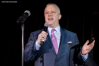 """Hotel Commonwealth General Manager Adam Sperling speaks during the Hotel Commonwealth Sparkle & Glow grand opening party at Hotel Commonwealth in Boston, Massachusetts Thursday, January 21, 2016."""