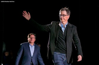 """Boston Red Sox Principal Owner John Henry is introduced at the NESN Town Hall during the 2016 Winter Weekend at Foxwoods Resort & Casino in Ledyard, Connecticut Friday, January 22, 2016."""