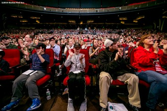 """Fans cheer at the NESN Town Hall during the 2016 Winter Weekend at Foxwoods Resort & Casino in Ledyard, Connecticut Friday, January 22, 2016."""