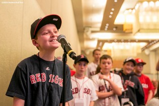 """A young fan asks a question at a panel during the 2016 Winter Weekend at Foxwoods Resort & Casino in Ledyard, Connecticut Saturday, January 23, 2016."""
