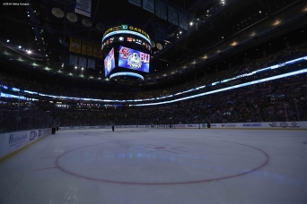 BOSTON, MA - FEBRUARY 08: The TD Garden is shown during a power outage during the Beanpot Tournament championship game between Boston College and Boston University at TD Garden on February 8, 2016 in Boston, Massachusetts. (Photo by Billie Weiss/Getty Images)