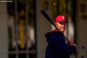 FT. MYERS, FL - FEBRUARY 25: Manager John Farrell of the Boston Red Sox walks toward the field during a team workout on February 25, 2016 at Fenway South in Fort Myers, Florida . (Photo by Billie Weiss/Boston Red Sox/Getty Images) *** Local Caption *** John Farrell