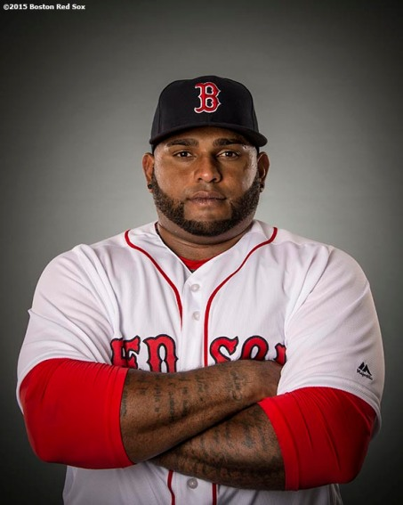 FT. MYERS, FL - FEBRUARY 28: Pablo Sandoval #48 of the Boston Red Sox poses for a portrait during team photo day on February 28, 2016 at Fenway South in Fort Myers, Florida . (Photo by Billie Weiss/Boston Red Sox/Getty Images) *** Local Caption ***