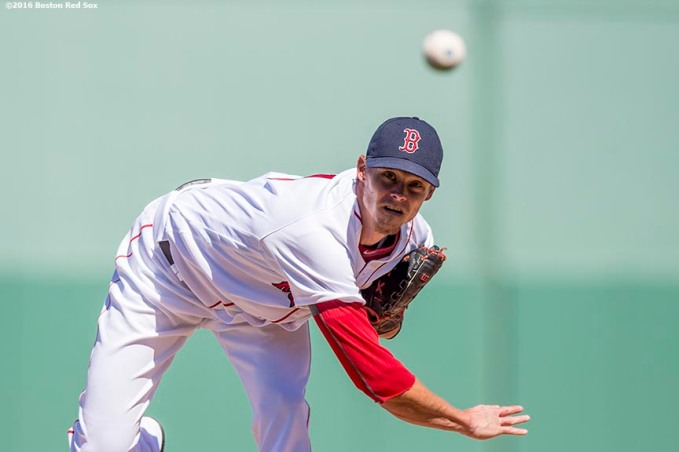 FT. MYERS, FL - MARCH 6: Clay Buchholz #11 of the Boston Red Sox delivers during a Grapefruit League game against the Baltimore Orioles on March 6, 2016 at JetBlue Park at Fenway South in Fort Myers, Florida . (Photo by Billie Weiss/Boston Red Sox/Getty Images) *** Local Caption *** Clay Buchholz
