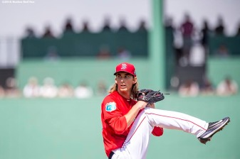 FT. MYERS, FL - MARCH 7: Henry Owens #60 of the Boston Red Sox pitches during a Grapefruit League game against the Tampa Bay Rays on March 7, 2016 at JetBlue Park at Fenway South in Fort Myers, Florida . (Photo by Billie Weiss/Boston Red Sox/Getty Images) *** Local Caption *** Henry Owens
