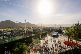 """The grounds are shown during the 2016 BNP Paribas Open at the Indian Wells Tennis Garden in Indian Wells, California Monday, March 14, 2016."""