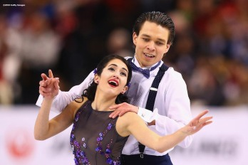 BOSTON, MA - MARCH 30: Cortney Mansour and Michal Ceska of the Czech Republic compete during Day 3 of the ISU World Figure Skating Championships 2016 at TD Garden on March 30, 2016 in Boston, Massachusetts. (Photo by Billie Weiss - ISU/ISU via Getty Images) *** Local Caption *** Cortney Mansour; Michal Ceska