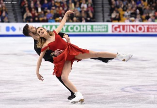BOSTON, MA - MARCH 30: Gabriella Papadakis and Guillaume Cizeron compete during Day 3 of the ISU World Figure Skating Championships 2016 at TD Garden on March 30, 2016 in Boston, Massachusetts. (Photo by Billie Weiss - ISU/ISU via Getty Images) *** Local Caption *** Gabriella Papadakis; Guillaume Cizeron