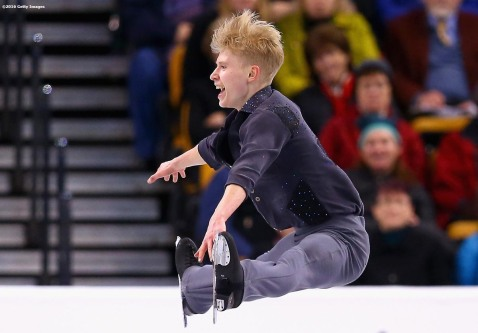 BOSTON, MA - MARCH 30: Denis Margalik of Argentina competes during Day 3 of the ISU World Figure Skating Championships 2016 at TD Garden on March 30, 2016 in Boston, Massachusetts. (Photo by Billie Weiss - ISU/ISU via Getty Images) *** Local Caption *** Denis Margalik