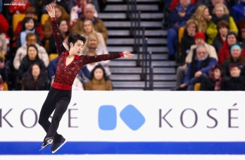 BOSTON, MA - MARCH 30: Boyang Jin of China competes during Day 3 of the ISU World Figure Skating Championships 2016 at TD Garden on March 30, 2016 in Boston, Massachusetts. (Photo by Billie Weiss - ISU/ISU via Getty Images) *** Local Caption *** Boyang Jin