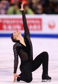 BOSTON, MA - MARCH 30: Adam Rippon of the United States competes during Day 3 of the ISU World Figure Skating Championships 2016 at TD Garden on March 30, 2016 in Boston, Massachusetts. (Photo by Billie Weiss - ISU/ISU via Getty Images) *** Local Caption *** Adam Rippon