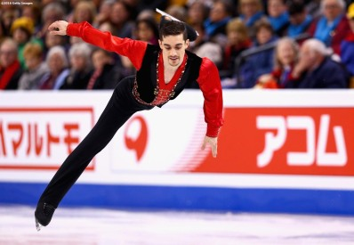 BOSTON, MA - MARCH 30: Javier Fernandez of Spain competes during Day 3 of the ISU World Figure Skating Championships 2016 at TD Garden on March 30, 2016 in Boston, Massachusetts. (Photo by Billie Weiss - ISU/ISU via Getty Images) *** Local Caption *** Javier Fernandez
