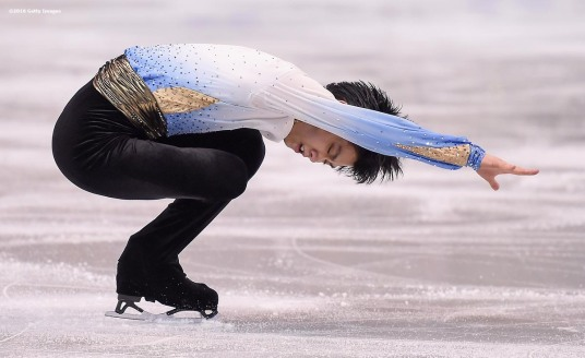 BOSTON, MA - MARCH 30: Yuzuru Hanyu of Japan competes during Day 3 of the ISU World Figure Skating Championships 2016 at TD Garden on March 30, 2016 in Boston, Massachusetts. (Photo by Billie Weiss - ISU/ISU via Getty Images) *** Local Caption *** Yuzuru Hanyu