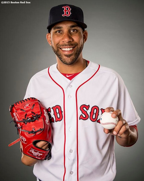 FT. MYERS, FL - FEBRUARY 28: David Price #24 of the Boston Red Sox poses for a portrait during team photo day on February 28, 2016 at Fenway South in Fort Myers, Florida . (Photo by Billie Weiss/Boston Red Sox/Getty Images) *** Local Caption ***