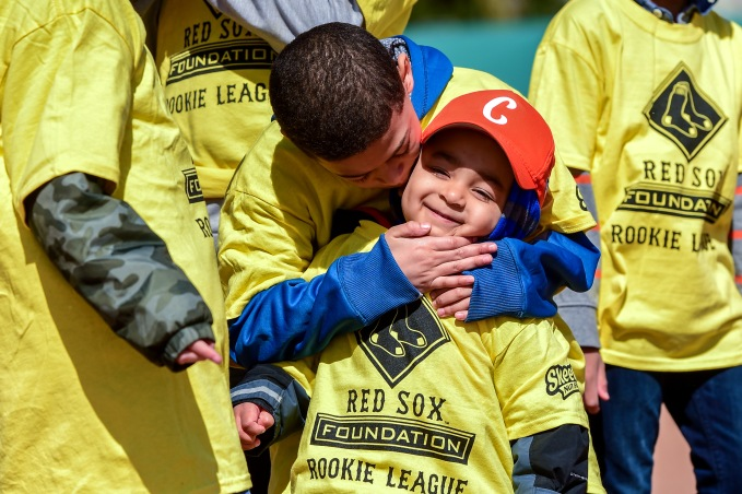 April 16, 2016, Boston, MA: RBI League players attend RBI Opening Day at Jim Rice Field in Boston, Massachusetts Saturday, April 16, 2016. (Photo by Billie Weiss/Boston Red Sox)
