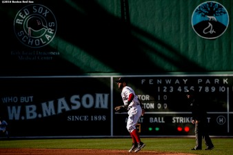 BOSTON, MA - APRIL 16: Dustin Pedroia #15 of the Boston Red Sox prepares to field a ground ball during the third inning of a game against the Toronto Blue Jays on April 16, 2016 at Fenway Park in Boston, Massachusetts . (Photo by Billie Weiss/Boston Red Sox/Getty Images) *** Local Caption *** Dustin Pedroia