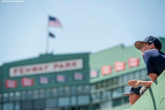 BOSTON, MA - APRIL 18: A young fan looks on before a game between the Boston Red Sox and the Toronto Blue Jays on April 18, 2016 at Fenway Park in Boston, Massachusetts . (Photo by Billie Weiss/Boston Red Sox/Getty Images) *** Local Caption ***