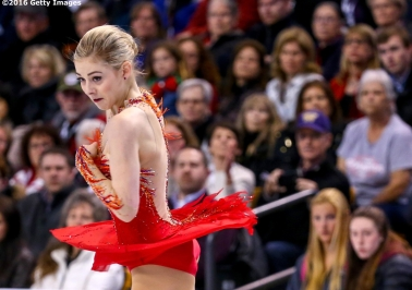 BOSTON, MA - APRIL 2: Gracie Gold of the United States competes during Day 6 of the ISU World Figure Skating Championships 2016 at TD Garden on April 2, 2016 in Boston, Massachusetts. (Photo by Billie Weiss - ISU/ISU via Getty Images) *** Local Caption *** Gracie Gold