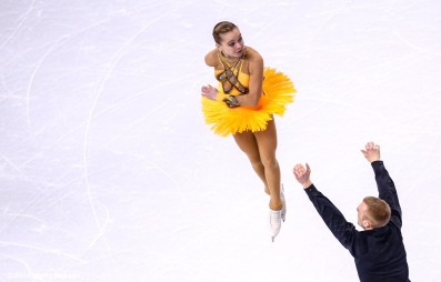 BOSTON, MA - APRIL 1: Ioulia Chtchetinina and Noah Scherer of Switzerland compete during Day 5 of the ISU World Figure Skating Championships 2016 at TD Garden on April 1, 2016 in Boston, Massachusetts. (Photo by Billie Weiss - ISU/ISU via Getty Images) *** Local Caption *** Ioulia Chtchetinina; Noah Scherer