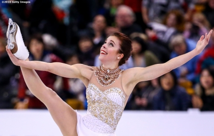 BOSTON, MA - APRIL 2: Ashley Wagner of the United States competes during Day 6 of the ISU World Figure Skating Championships 2016 at TD Garden on April 2, 2016 in Boston, Massachusetts. (Photo by Billie Weiss - ISU/ISU via Getty Images) *** Local Caption *** Ashley Wagner