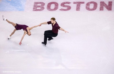 BOSTON, MA - APRIL 1: Tarah Kayne and Daniel O'Shea of the United States compete during Day 5 of the ISU World Figure Skating Championships 2016 at TD Garden on April 1, 2016 in Boston, Massachusetts. (Photo by Billie Weiss - ISU/ISU via Getty Images) *** Local Caption *** Tarah Kayne; Daniel O'Shea