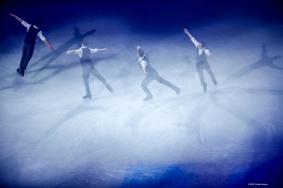 BOSTON, MA - APRIL 3: (Editor's note: This images was created using in camera multiple exposure) Patrick Chan of Canada performs during the exhibition of champions during Day 7 of the ISU World Figure Skating Championships 2016 at TD Garden on April 3, 2016 in Boston, Massachusetts. (Photo by Billie Weiss - ISU/ISU via Getty Images) *** Local Caption *** Patrick Chan