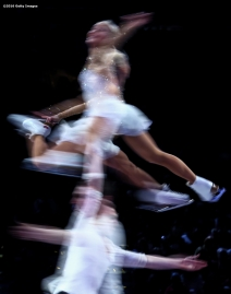 BOSTON, MA - APRIL 3: (Editor's note: This images was created using in camera multiple exposure) Aliona Savchenko and Bruno Massot of Germany perform during the exhibition of champions during Day 7 of the ISU World Figure Skating Championships 2016 at TD Garden on April 3, 2016 in Boston, Massachusetts. (Photo by Billie Weiss - ISU/ISU via Getty Images) *** Local Caption *** Aliona Savchenko; Bruno Massot