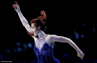 BOSTON, MA - APRIL 3: Ashley Wagner of the United States performs during the exhibition of champions during Day 7 of the ISU World Figure Skating Championships 2016 at TD Garden on April 3, 2016 in Boston, Massachusetts. (Photo by Billie Weiss - ISU/ISU via Getty Images) *** Local Caption *** Ashley Wagner