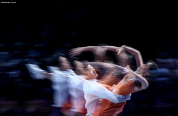 BOSTON, MA - APRIL 3: (Editor's note: This images was created using in camera multiple exposure) Maia Shibutani and Alex Shibutani of the United States perform during the exhibition of champions during Day 7 of the ISU World Figure Skating Championships 2016 at TD Garden on April 3, 2016 in Boston, Massachusetts. (Photo by Billie Weiss - ISU/ISU via Getty Images) *** Local Caption *** Maia Shibutani; Alex Shibutani