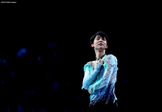 BOSTON, MA - APRIL 3: Yuzuru Hanyu of Japan performs during the exhibition of champions during Day 7 of the ISU World Figure Skating Championships 2016 at TD Garden on April 3, 2016 in Boston, Massachusetts. (Photo by Billie Weiss - ISU/ISU via Getty Images) *** Local Caption *** Yuzuru Hanyu