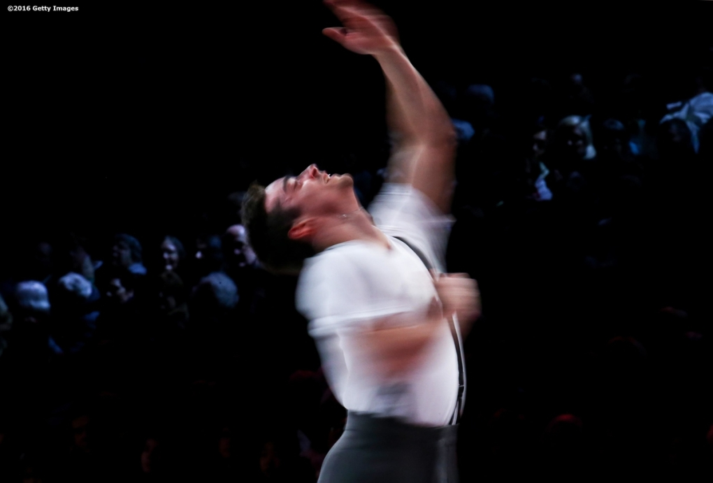 BOSTON, MA - APRIL 3: Javier Fernandez of Spain performs during the exhibition of champions during Day 7 of the ISU World Figure Skating Championships 2016 at TD Garden on April 3, 2016 in Boston, Massachusetts. (Photo by Billie Weiss - ISU/ISU via Getty Images) *** Local Caption *** Javier Fernandez