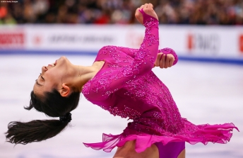 BOSTON, MA - MARCH 31: Mao Asada of Japan competes during Day 4 of the ISU World Figure Skating Championships 2016 at TD Garden on March 31, 2016 in Boston, Massachusetts. (Photo by Billie Weiss - ISU/ISU via Getty Images) *** Local Caption *** Mao Asada
