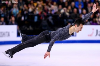 BOSTON, MA - APRIL 1: Patrick Chan of Canada competes during Day 5 of the ISU World Figure Skating Championships 2016 at TD Garden on April 1, 2016 in Boston, Massachusetts. (Photo by Billie Weiss - ISU/ISU via Getty Images) *** Local Caption *** Patrick Chan