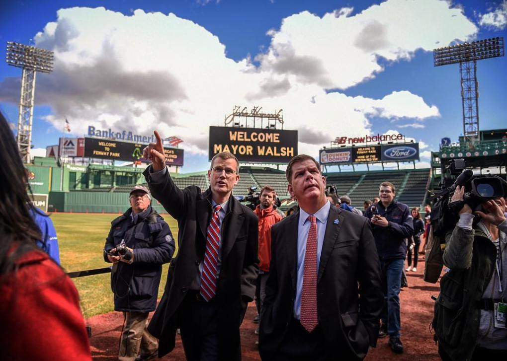 _Boston_Mayor_Marty_Walsh_here_today_with_Sam_Kennedy_checking_out_new_additions_to__fenwaypark_before__OpeningDay.__redsox__instantbaseball