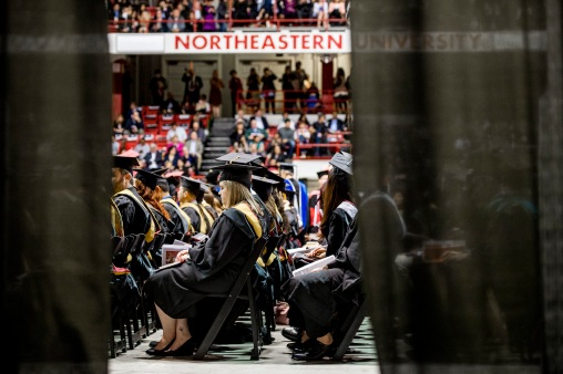 Northeastern University celebrated its 114th Commencement on May 6, 2016. President Joseph E. Aoun led the graduate ceremony, which was held in Matthews Arena at Northeastern in Boston. Charles Elachi, director of the NASA Jet Propulsion Laboratory and a vice president and professor of electrical engineering and planetary science at the California Institute of Technology, delivered the Commencement address and received an honorary degree.