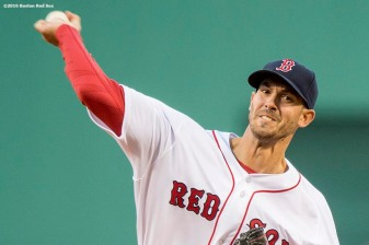 BOSTON, MA - APRIL 30: Rick Porcello #22 of the Boston Red Sox delivers during the first inning of a game against the New York Yankees on April 30, 2016 at Fenway Park in Boston, Massachusetts . (Photo by Billie Weiss/Boston Red Sox/Getty Images) *** Local Caption *** Rick Porcello