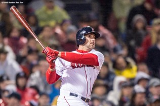 BOSTON, MA - MAY 1: Travis Shaw #47 of the Boston Red Sox hits a two run home run during the fifth inning of a game against the New York Yankees on May 1, 2016 at Fenway Park in Boston, Massachusetts. (Photo by Billie Weiss/Boston Red Sox/Getty Images) *** Local Caption *** Travis Shaw