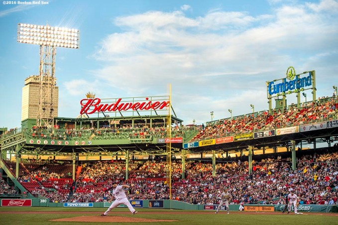BOSTON, MA - MAY 10: Sean O'Sullivan #62 of the Boston Red Sox delivers during the first inning of a game against the Oakland Athletics on May 10, 2016 at Fenway Park in Boston, Massachusetts. It was his first start as a member of the Boston Red Sox. (Photo by Billie Weiss/Boston Red Sox/Getty Images) *** Local Caption *** Sean O'Sullivan