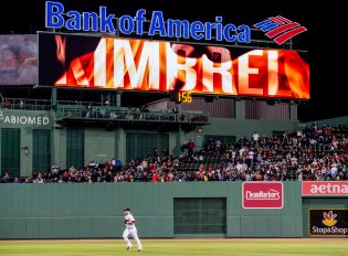 BOSTON, MA - MAY 10: Craig Kimbrel #46 of the Boston Red Sox enters the game during the ninth inning of a game against the Oakland Athletics on May 10, 2016 at Fenway Park in Boston, Massachusetts. (Photo by Billie Weiss/Boston Red Sox/Getty Images) *** Local Caption *** Craig Kimbrel