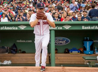 BOSTON, MA - MAY 21: Joe Kelly #56 of the Boston Red Sox steps onto the field before a game against the Cleveland Indians on May 21, 2016 at Fenway Park in Boston, Massachusetts. (Photo by Billie Weiss/Boston Red Sox/Getty Images) *** Local Caption *** Joe Kelly
