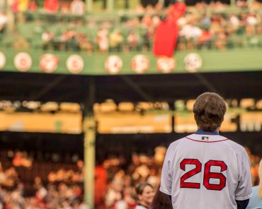 BOSTON, MA - MAY 26: Former Boston Red Sox third baseman Wade Boggs looks on as his jersey number is unveiled during a special number retirement ceremony before a game between the Boston Red Sox and the Colorado Rockies on May 26, 2016 at Fenway Park in Boston, Massachusetts. (Photo by Billie Weiss/Boston Red Sox/Getty Images) *** Local Caption *** Wade Boggs