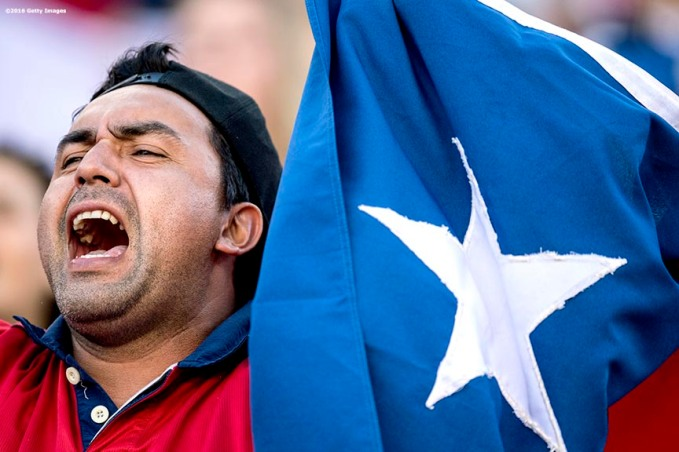 FOXBOROUGH, MASSACHUSETTS - JUNE 10: A fan reacts during a group D match between Chile and Bolivia at Gillette Stadium as part of Copa America Centenario US 2016 on June 10, 2016 in Foxborough, Massachusetts, US. (Photo by Billie Weiss/LatinContent/Getty Images) *** Local Caption ***